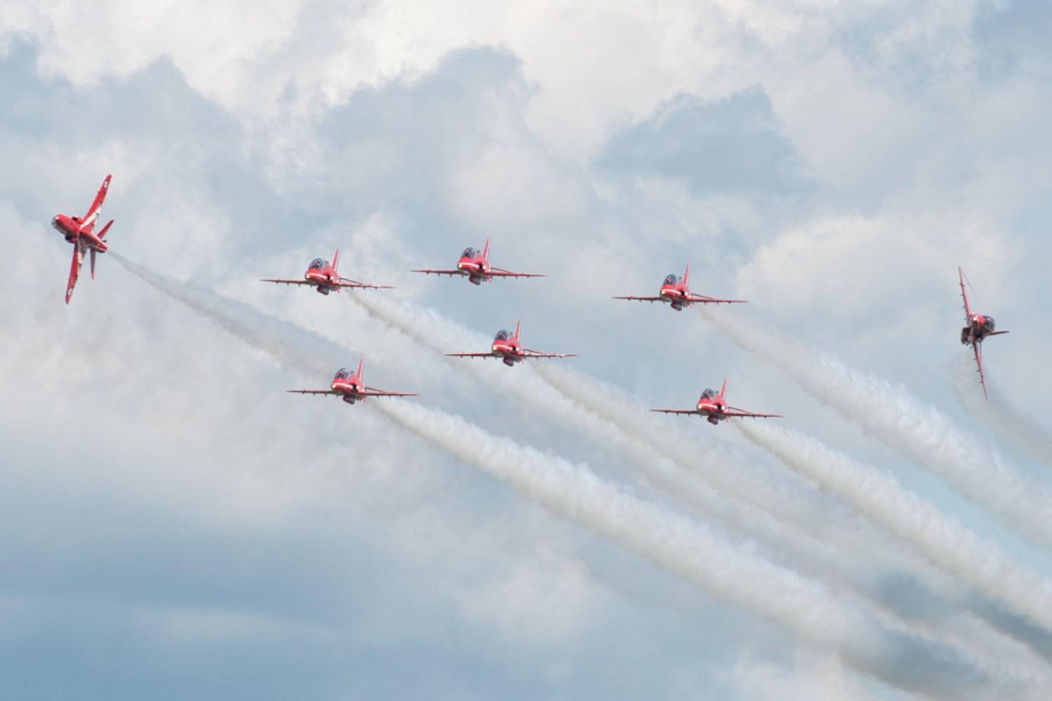 © Michael Buckle - Bristol International Balloon Fiesta • RAF Red Arrows • Ashton Court - Bristol, UK