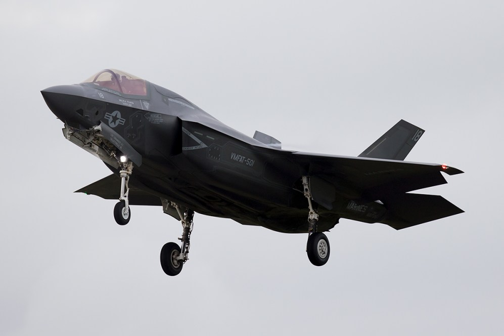 © Michael Lovering - USMC F-35B 168726 - First F-35 Lightning IIs arrive in United Kingdom