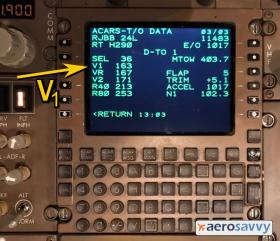 Takeoff Data on an ACARS Display - Recurrent Training - AeroSavvy