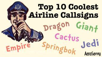 AeroSavvy Top 2016 Top 10 Coolest Airline Callsigns