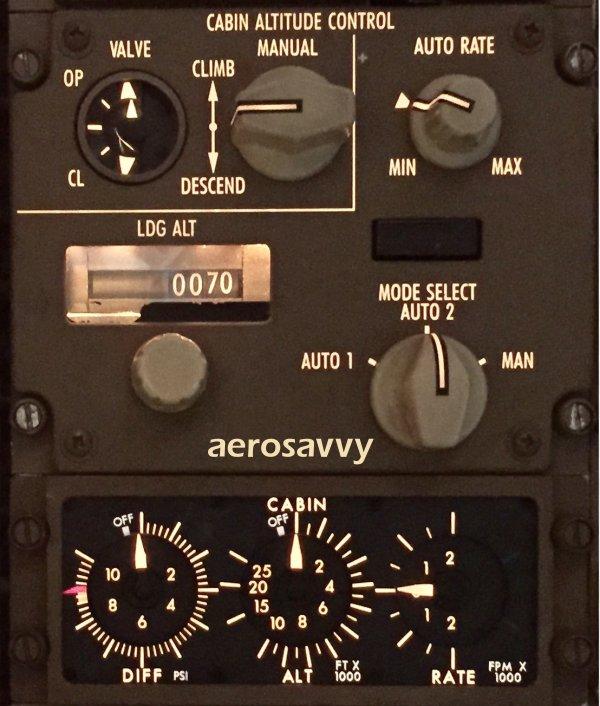 Boeing 757 and 767 pressurization panel - AeroSavvy