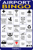 AeroSavvy Airport Bingo Card 2