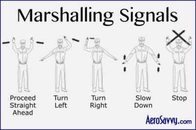 AeroSavvy Airport BINGO Marshalling Signals