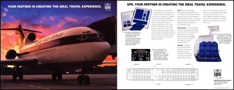 UPS passenger charter ad - UPS Passenger Flights - Aerosavvy