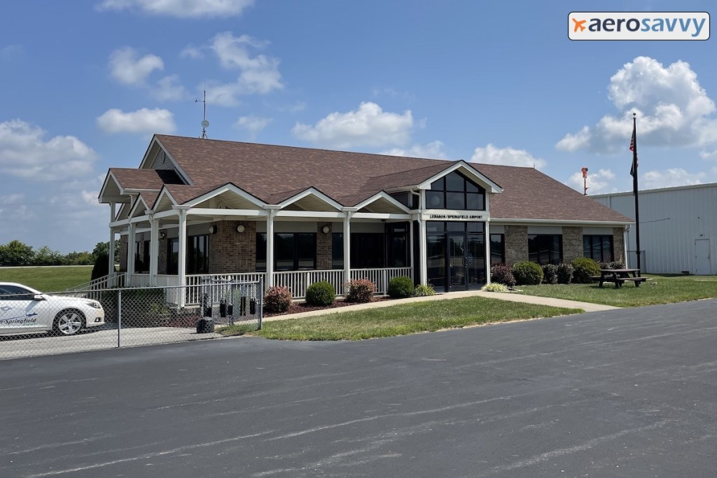 Modern Exterior of the FBO Building. about the size of a 3 bedroom one-story house.