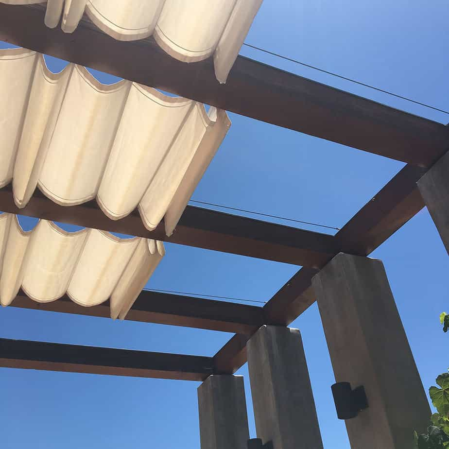 Slide Wire Cable Awnings In Los Angeles Aero Shade
