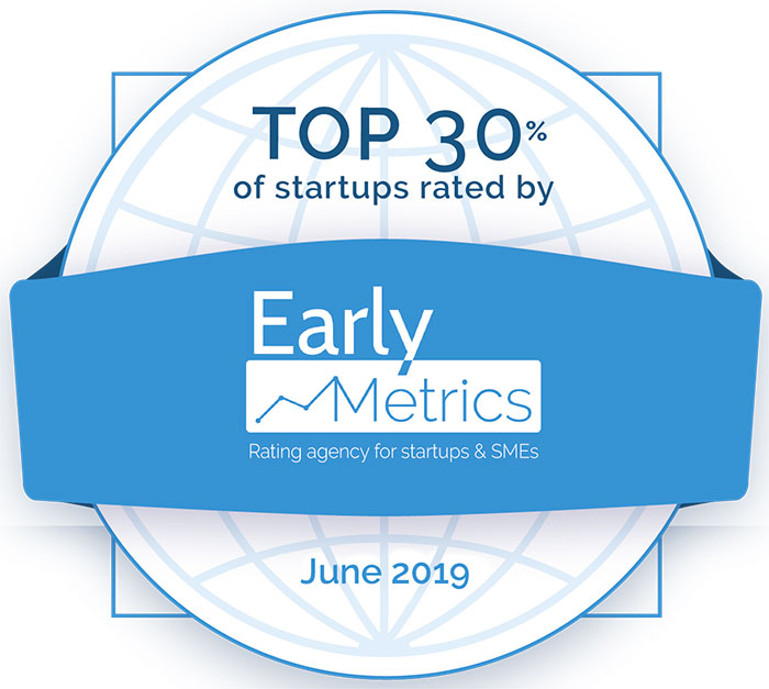 Aerosint among the top 30% of the 2,500 Start-ups rated by Early Metrics