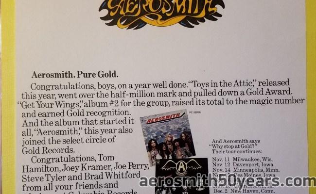 Toys In The Attic Original Magazine Ad With Tour Dates