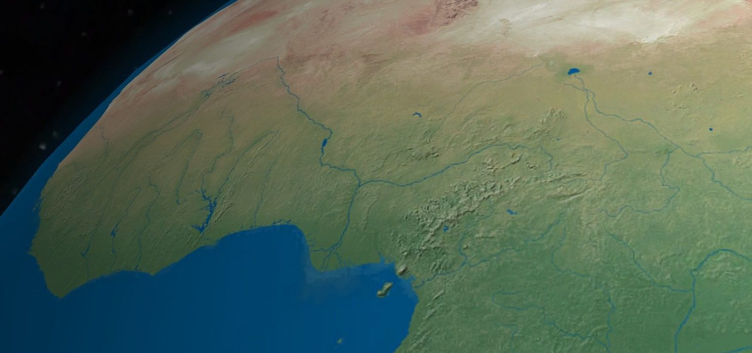 A Photo of Nigeria from Space