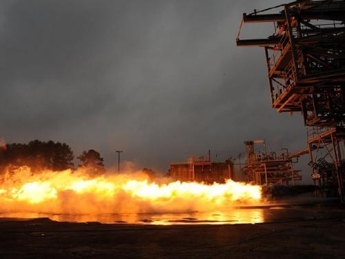 Saturn V F-1 Gas Generator Hot-fire Test Picture