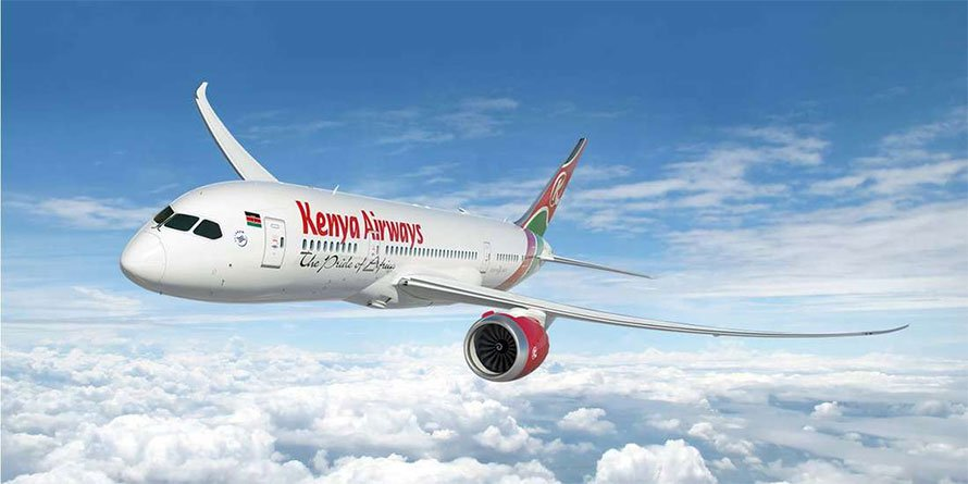 A Kenya Airways plane
