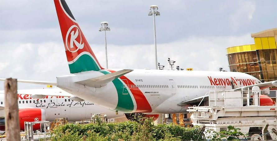 Kenya Airways planes at JKIA