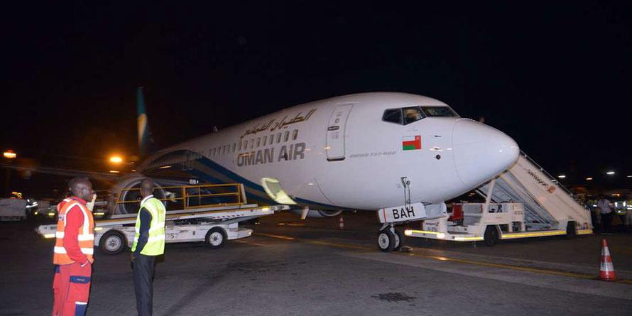 Oman Air at the Jomo Kenyatta International Airport