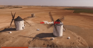 Vídeo aéreo con dron Molinos en Castilla la Mancha Aerosportfoto