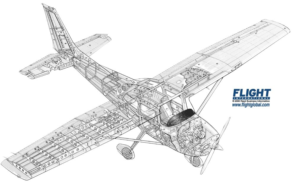 Cessna 152 Drawing Models Sketch Coloring Page