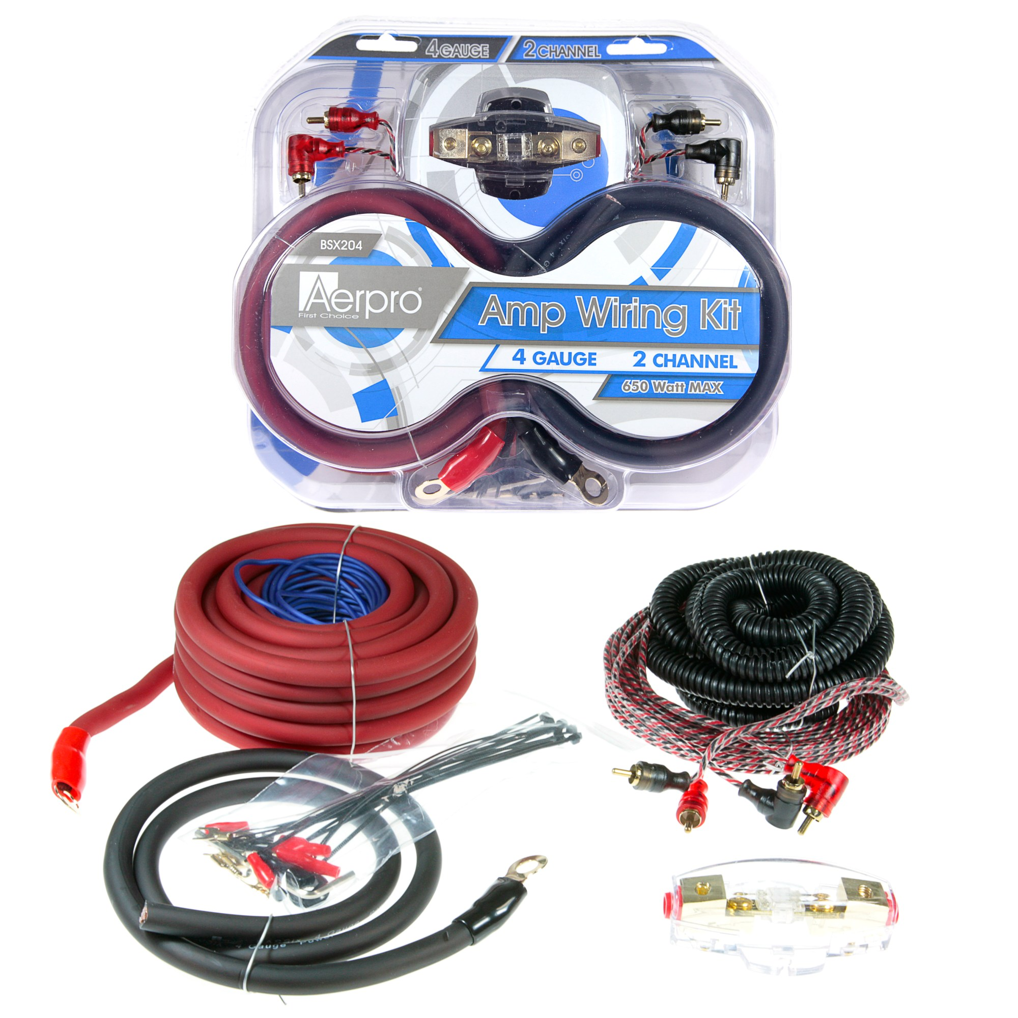 hight resolution of bsx204 bassix 4ga 2 channel amp install kit