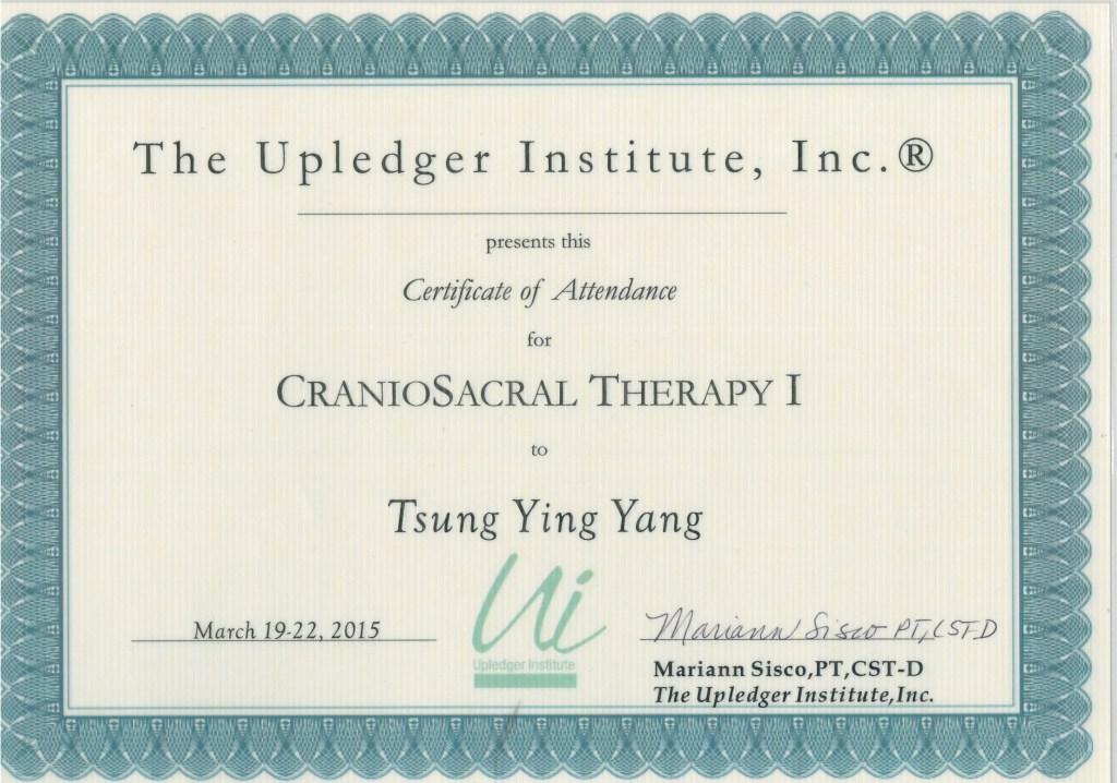 美國顱薦平衡術CST-1-授證