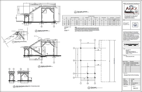 sections of elevated steel decks at Foothills Alberta by AERZ consulting Inc.