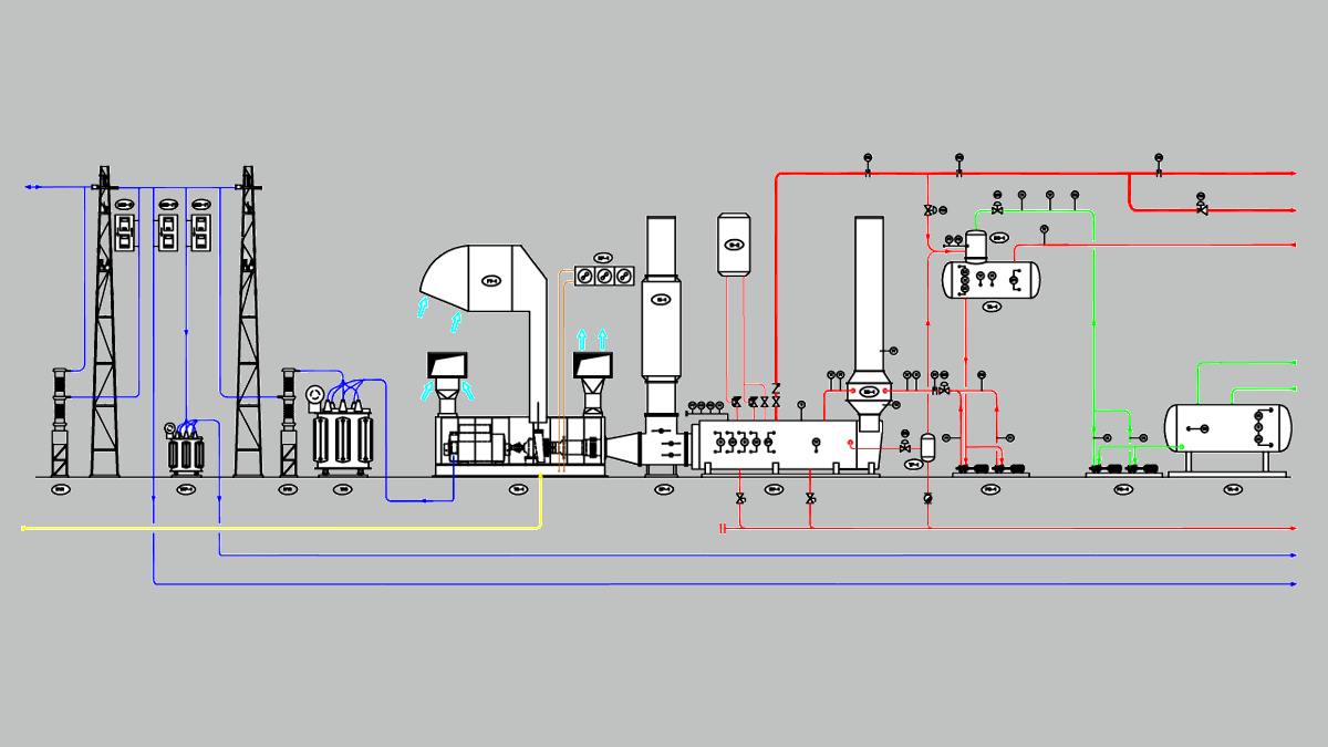 hight resolution of 4 8 mw simple cycle cogeneration plant with a gas turbine and a hrsg able to produce 15 t h of saturated steam