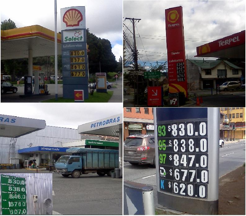 Precios de Combustibles en Puerto Montt (semana 22 al 28 de marzo 2012) (2/2)