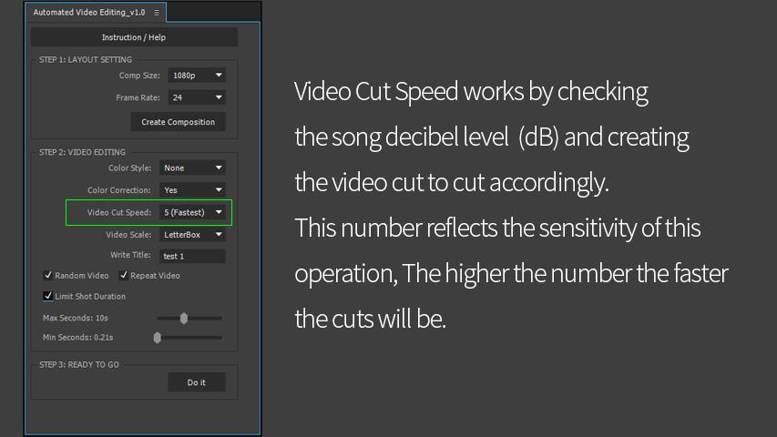 Video Cut Speed