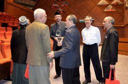 From left: Ustaz Ismail Mina Ahmad (MUAFAKAT), Datuk Rameli Musa, Sdr. Mahmud (MUAFAKAT), Prof. Datuk Dr. Sidek Baba (UIAM), Haji Amin Mohd Hashim (MUAFAKAT) at the Wacana Liberalisme: Agenda Jahat Illuminati, Kompleks Islam Putrajaya, 17th January 2017.