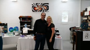 Me with Matt Fischer (Chair, Metro Arts Commission and owner of Picture This Gallery)