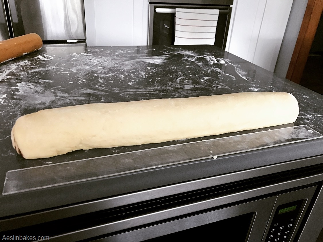 Pinch the seams and nudge the dough for even thickness