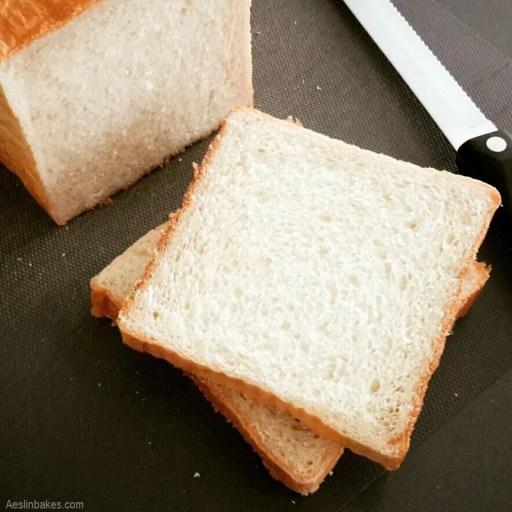 Top view soft sandwich bread