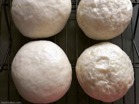 Cooking on low steam (left) vs high steam (right) - Siopao Bola Bola