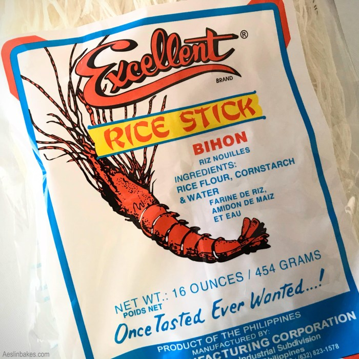 bihon - rice stick noodles