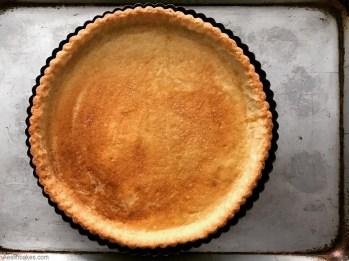 full baked sweet pastry crust