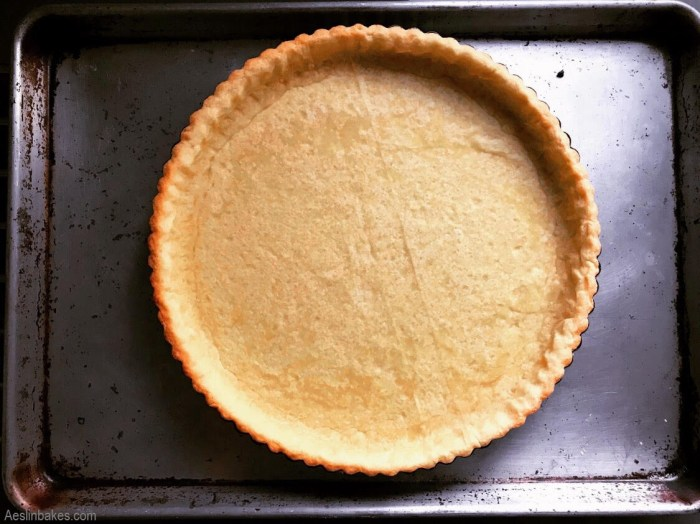 partially baked sweet pastry crust