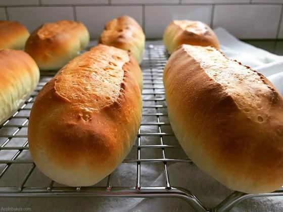 Hotdog buns cooling front