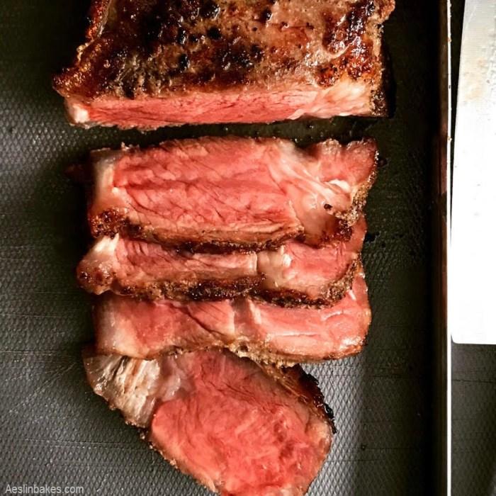 Reverse-Seared Steak top
