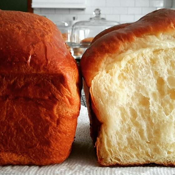 brioche loaf halves