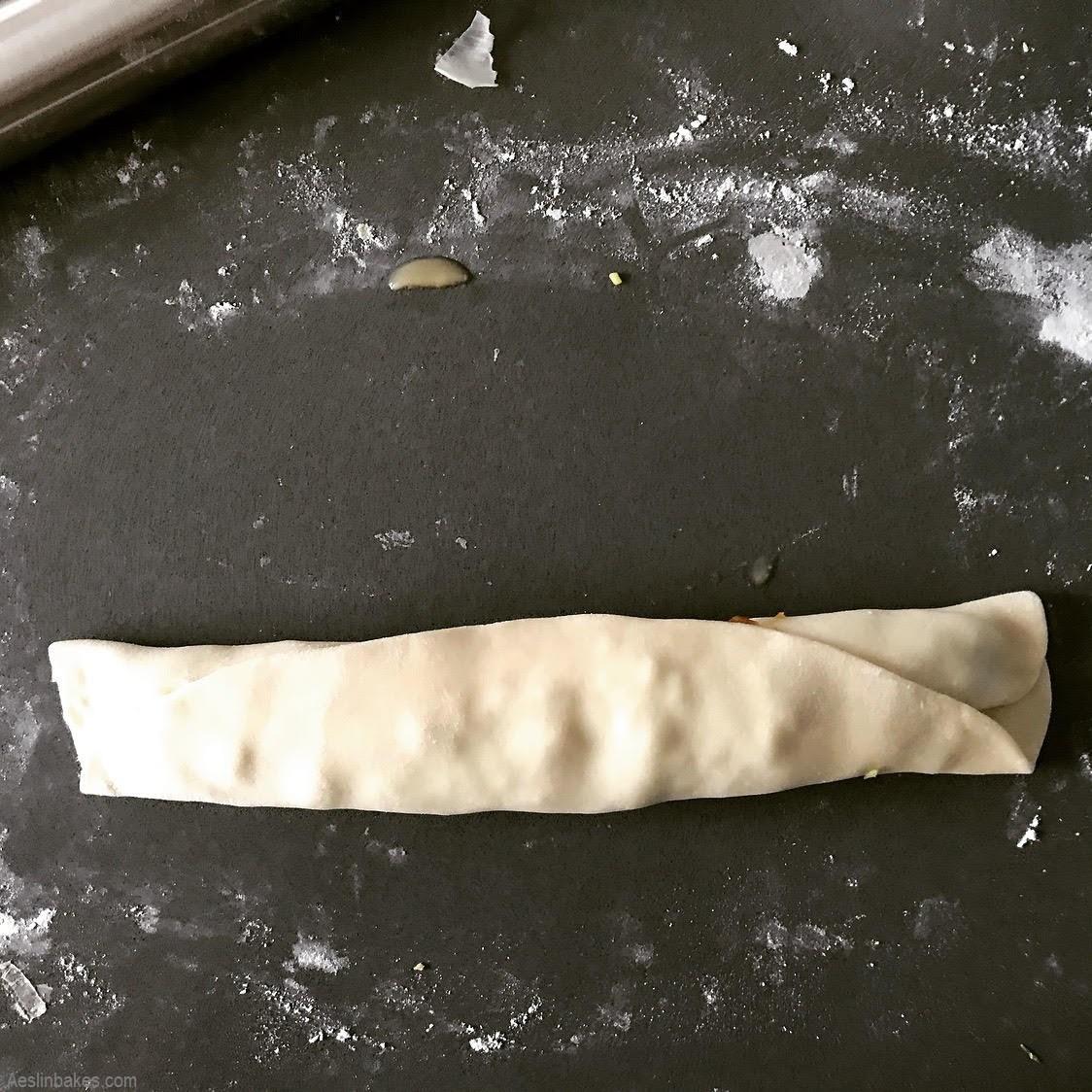 scallion pancake rolled up