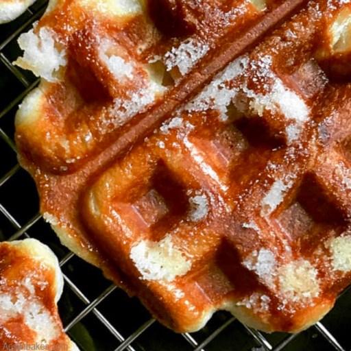 liege waffle close up top