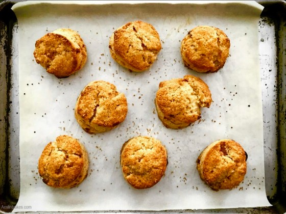 baked brown butter scones