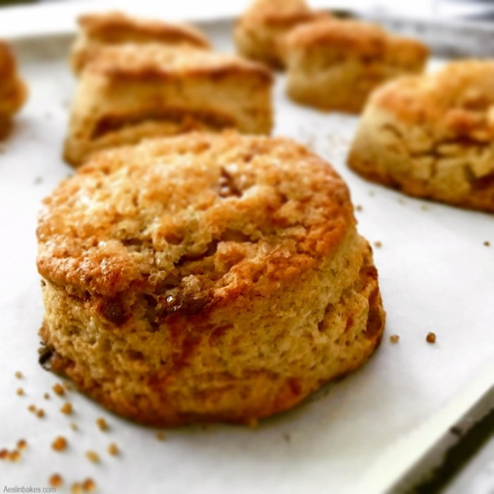 brown butter scone on pan