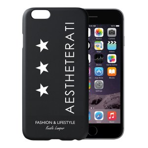 AESTHETERATI TRIPLE STAR Premium Apple iPhone 6 Case Black Color