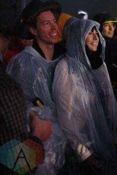 Phantogram's Sarah Barthel and Shaun White in the crowd during Flaming Lips. (Photo: Krystyn Bristol/Aesthetic Magazine Toronto)