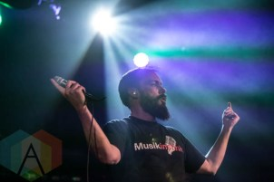 Clutch performing at the Commodore Ballroom in Vancouver, B.C. on April 23rd, 2015. (Photo: Amy Ray/Aesthetic Magazine Toronto)