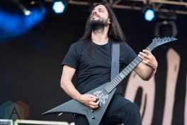 Gojira performing at Chicago Open Air on July 16, 2016. (Photo: Katie Kuropas/Aesthetic Magazine)