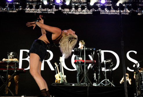 Broods performs at the Coachella Music Festival in Indio, California on April 14, 2017. (Photo: Greg Noire)