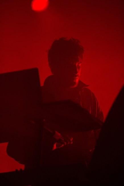 Nicolas Jaar performs at the Coachella Music Festival in Indio, California on April 15, 2017. (Photo: Brian Willette)