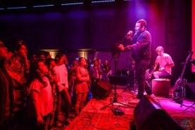Rostam performs at Public Arts in New York City on June 8, 2017. (Photo: Alx Bear/Aesthetic Magazine)