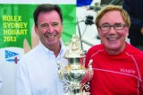 ExLarge_CYCA Commodore Howard Piggott present Darryl Hodgkinson Victoire's owner with the Tattersall's Cup. Credit ROLEXCarlo Borlenghi