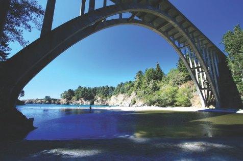 Highway 1 bridge over Russian Gulch State Park along Mendocino coast