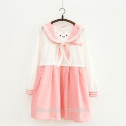 pastel cute cat pink dress dresses clothing skirts aesthetic ear
